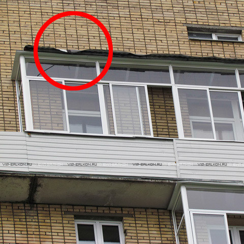 Крыша на балкон из гофрированного листа