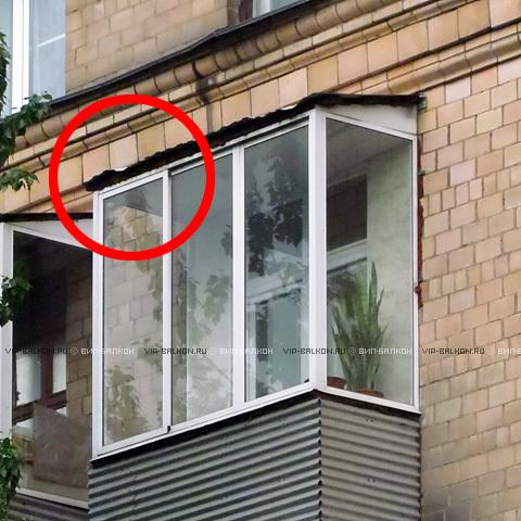 Кровля на балкон из гофрированного листа